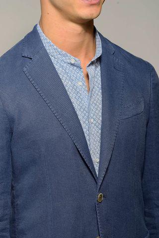 giacca bluette 2 bottoni cotone slim Angelico