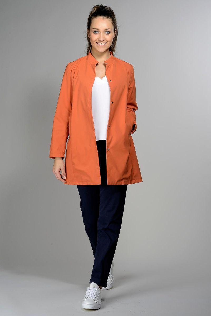 orange overcoat woman Angelico