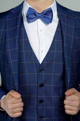 abito bluette quadro gilet slim flli cerruti Angelico