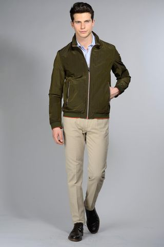 Military light jacket orange details Angelico