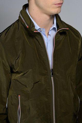 military light jacket orange details Angelico
