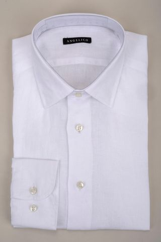 white linen shirt Angelico