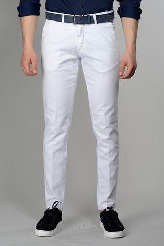 pantalone bianco armatura tc slim Angelico
