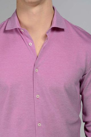 lavender lisle polo long sleeves Angelico