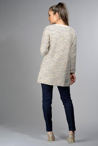 chanel long jacket beige-lurex Angelico