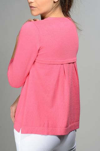 fuchsia pullover pleats at back Angelico