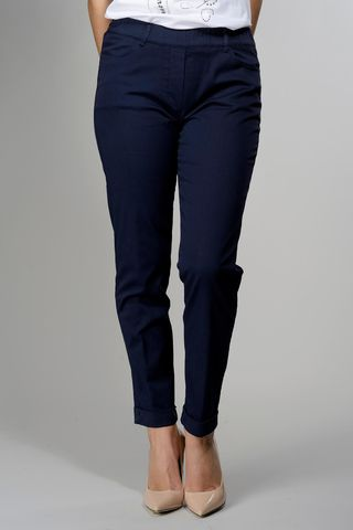 navy stretch leggings with turn-up Angelico