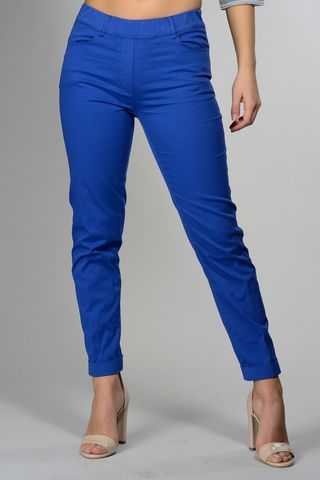 royal blue stretch leggings with turn-up Angelico