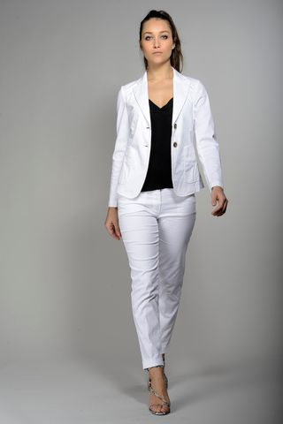 white jacket stretch gabardine Angelico