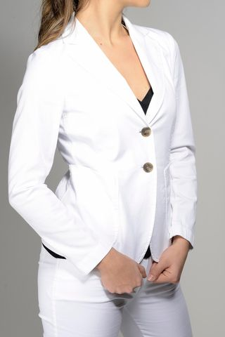 white jacket stretch gabardine Angelico