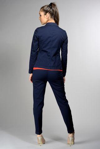 navy jacket stretch gabardine Angelico