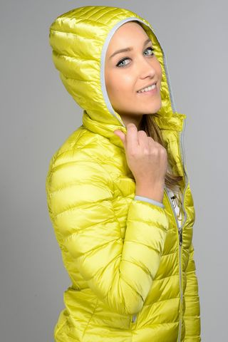 yellow hooded eco-duvet 100gr Angelico