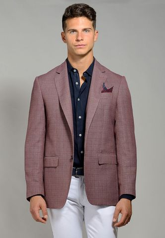 marsala jacket two-buttons cotton-linen Angelico