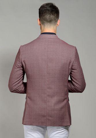 giacca vinaccia 2 bottoni cotone-lino Angelico