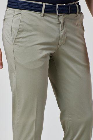 pantalone salvia raso cotone extra slim Angelico
