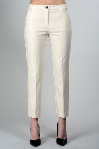 cream trousers cigarette pattern Angelico