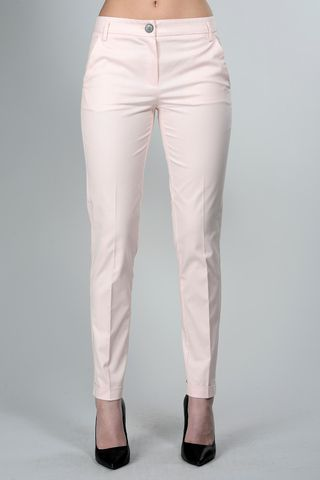 pink trousers with turn-up Angelico