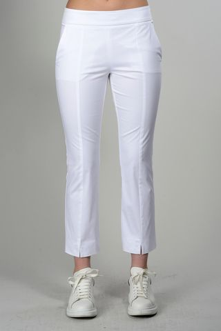 white trousers with central slit Angelico