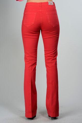 jeans rosso elasticizzato zampa Angelico