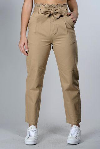 pantalone safari over pinces e pizzo Angelico