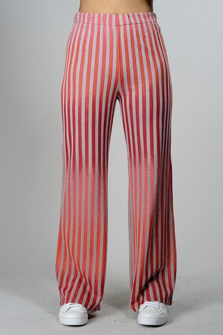 Red-silver striped jersey trousers Angelico