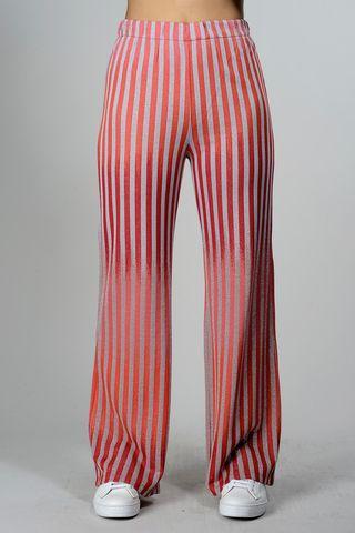 pantalone rosso-argento rigato maglina Angelico