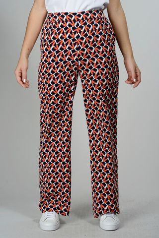 Blue-orange wide trousers Angelico