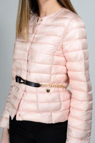 korean pink duvet belt chain Angelico