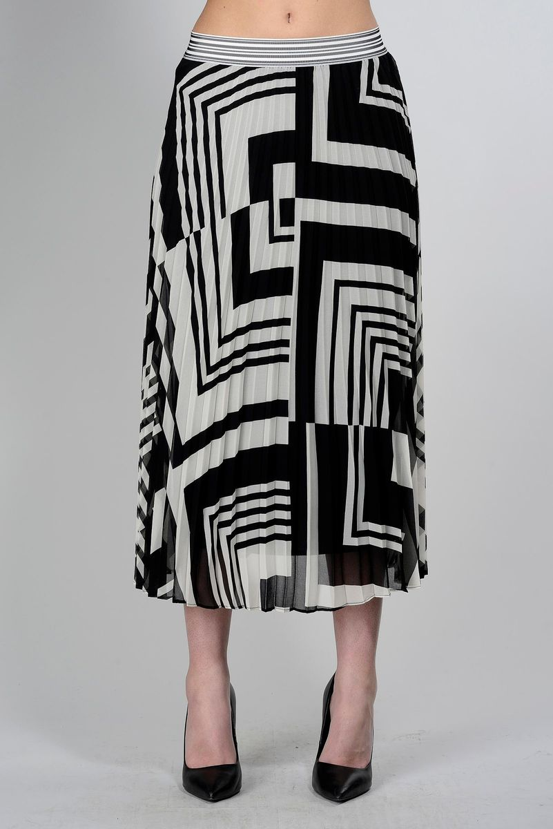 pleated black-white skirt Angelico