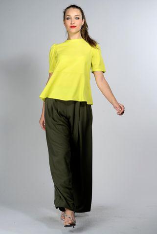 blusa giallo fluo manica palloncino Angelico