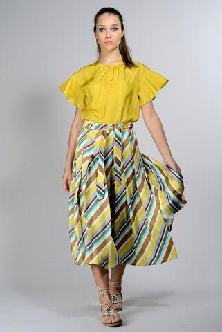 blusa giallo senape seta Angelico