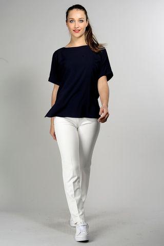 blusa blu ampia manica corta Angelico