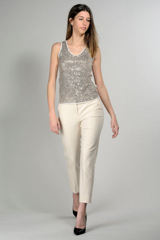 silver sequins tank top Angelico