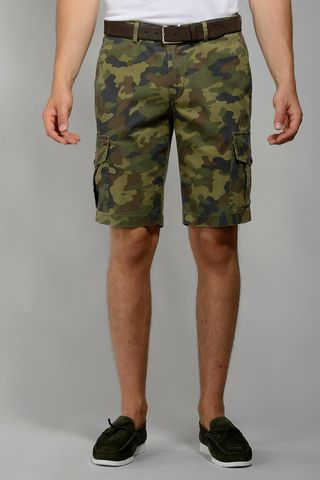 green camouflage bermuda pockets Angelico