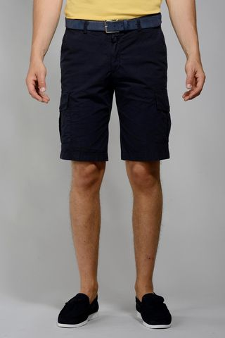 navy bermuda pockets Angelico