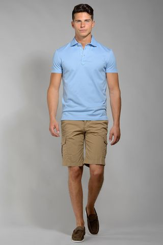baby blue lisle polo piquet Angelico