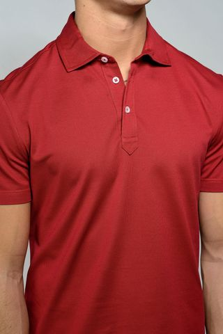 red lisle polo piquet Angelico