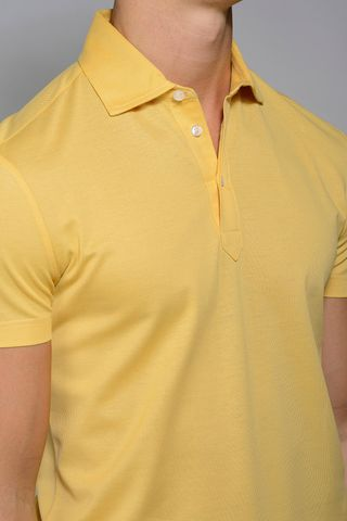 yellow lisle polo piquet Angelico