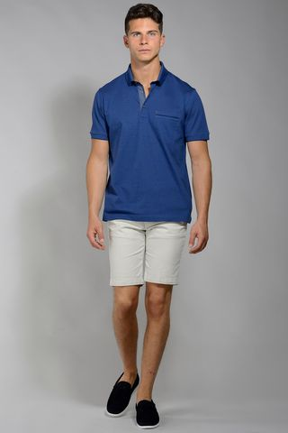polo bluette taschino oxford mercerizzato Angelico