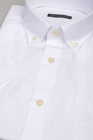 white short sleeves shirt bd and pocket Angelico