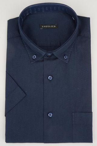 Camicia manica corta blu bd Angelico