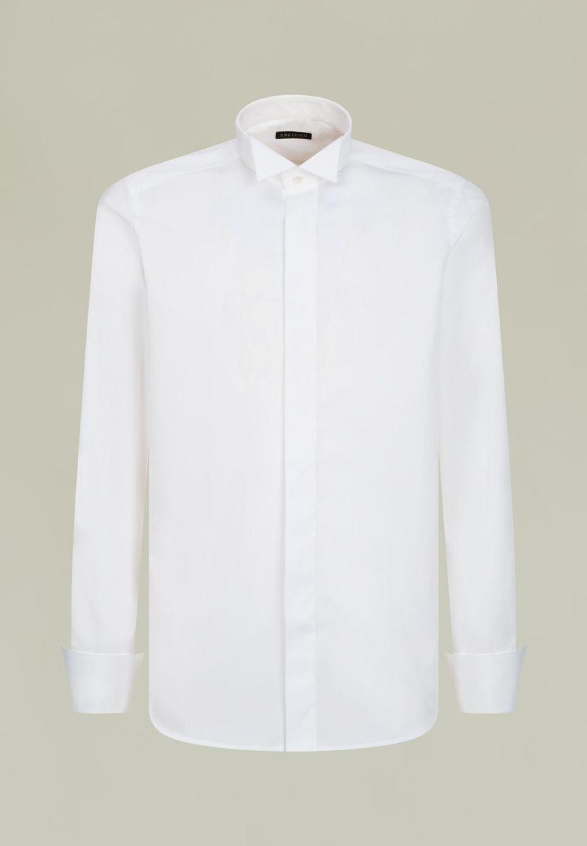 camicia bianca diplomatica polso gemelli Angelico