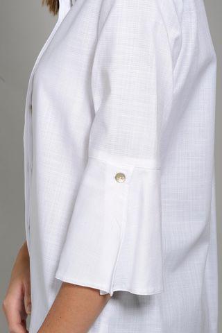 korean long white woman shirt Angelico