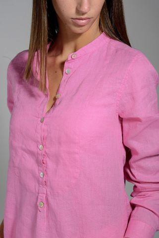 camicia rosa donna lino coreana Angelico