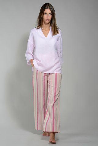 Camicia donna lino rosa coreano v Angelico