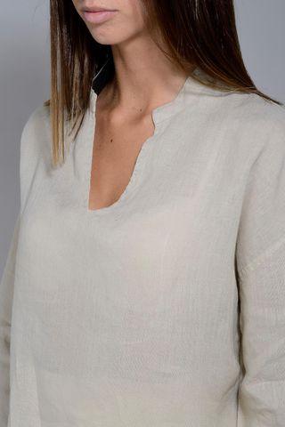 natural linen woman shirt v korean Angelico