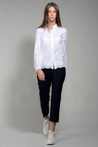 korean white shirt with lace long sleeves Angelico