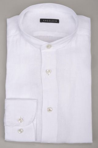 white korean linen shirt Angelico
