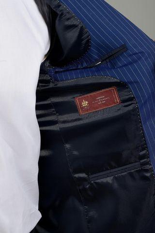 abito bluette gessato flli cerruti slim lungo Angelico