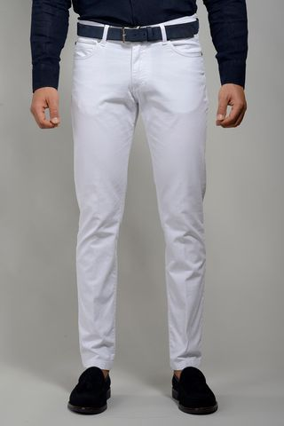 White trousers 5 pockets slim Angelico